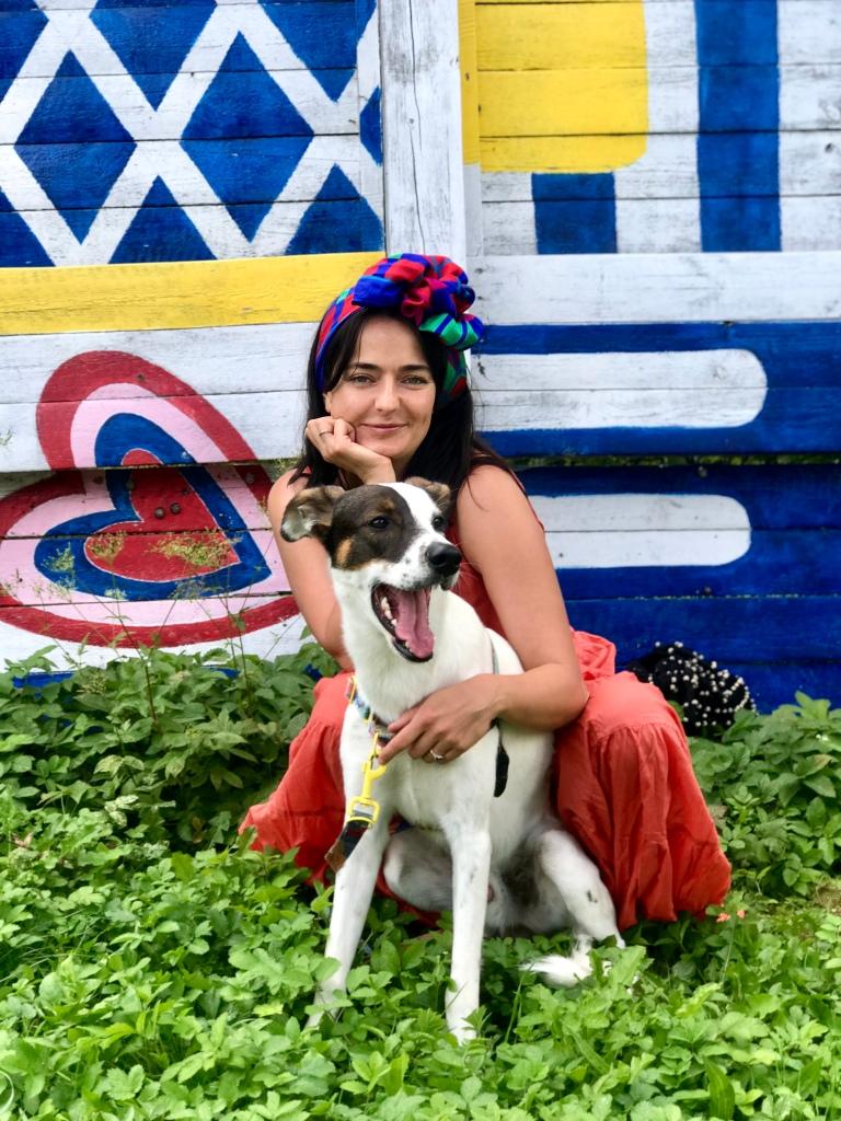 Marta Urbaniak z psem